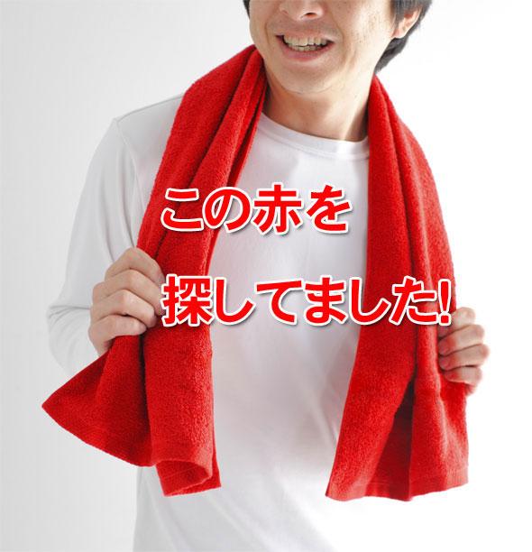 赤スポーツタオル【今治タオルエール】
